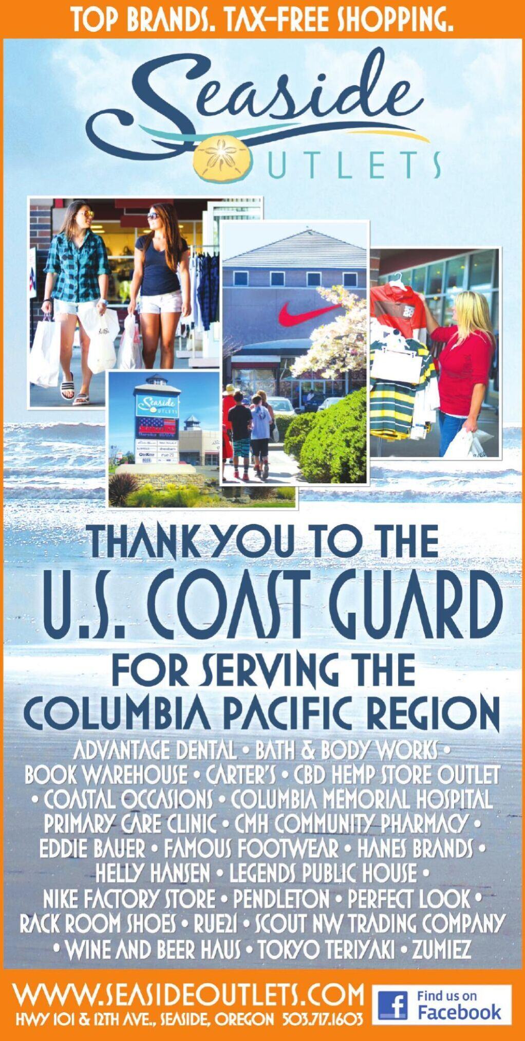 Seaside Outlet USCG 2021