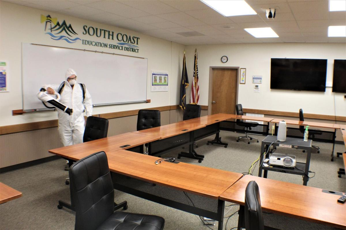 Cleaning conference room