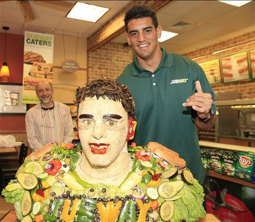 mariota is honored with sandwich sculpture national sports rh theworldlink com