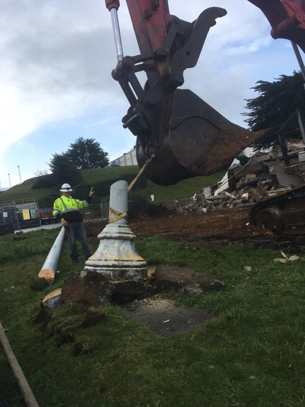 Harding demolished