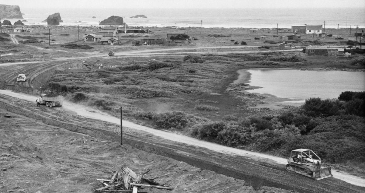 Jetty Road being constructed