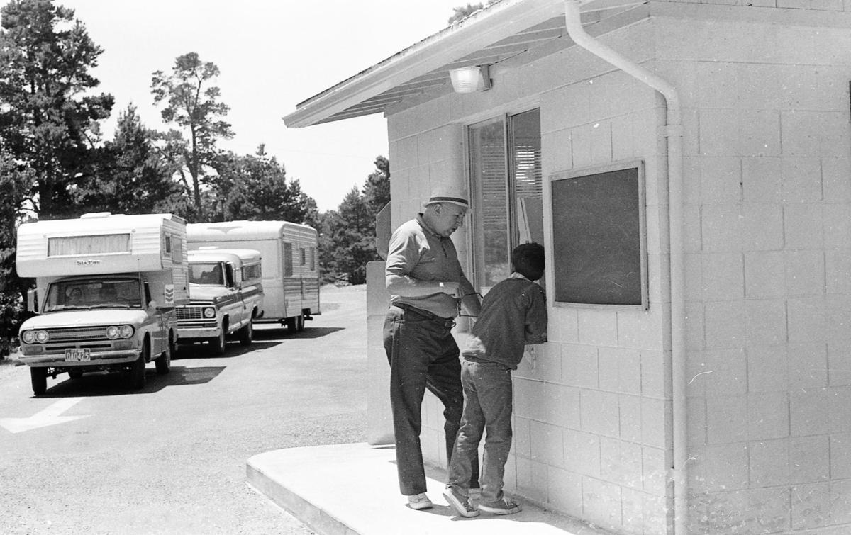 Information booth at Bullards, July 7, 1971