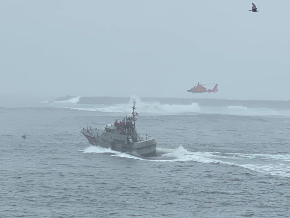 U.S. Coast Guard at Coos Bay bar