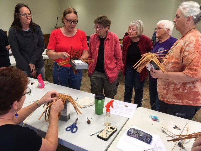 Basket weaving workshop at Bandon Library