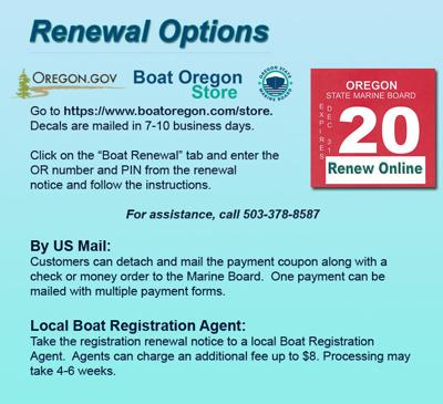 Boating Renewal Instructions
