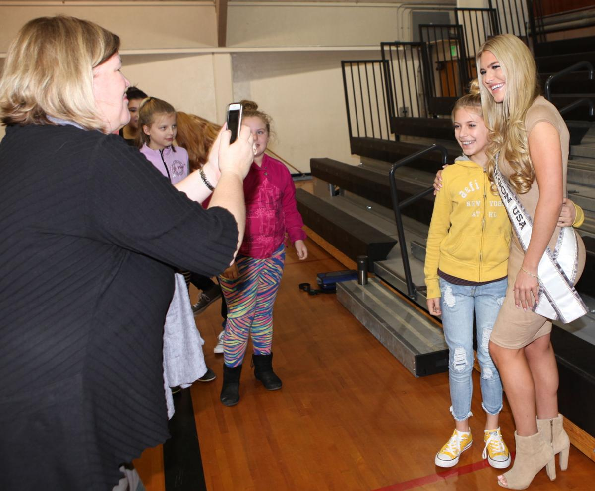 Miss Oregon USA 2018 visits local schools