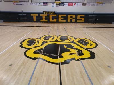 Bandon High School gym floor