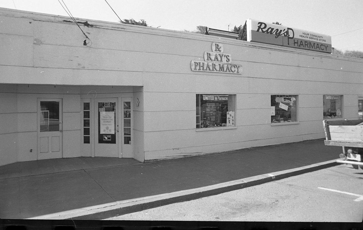 Ray's Pharmacy in Old Town Bandon, 1975
