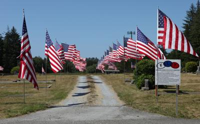 Flags to fly at cemeteries on Veterans Day