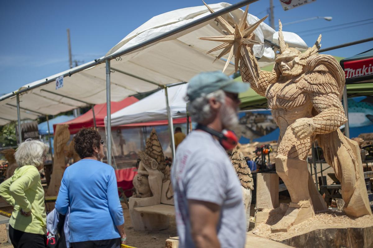 Renowned carvers compete in the 20th annual chainsaw carving