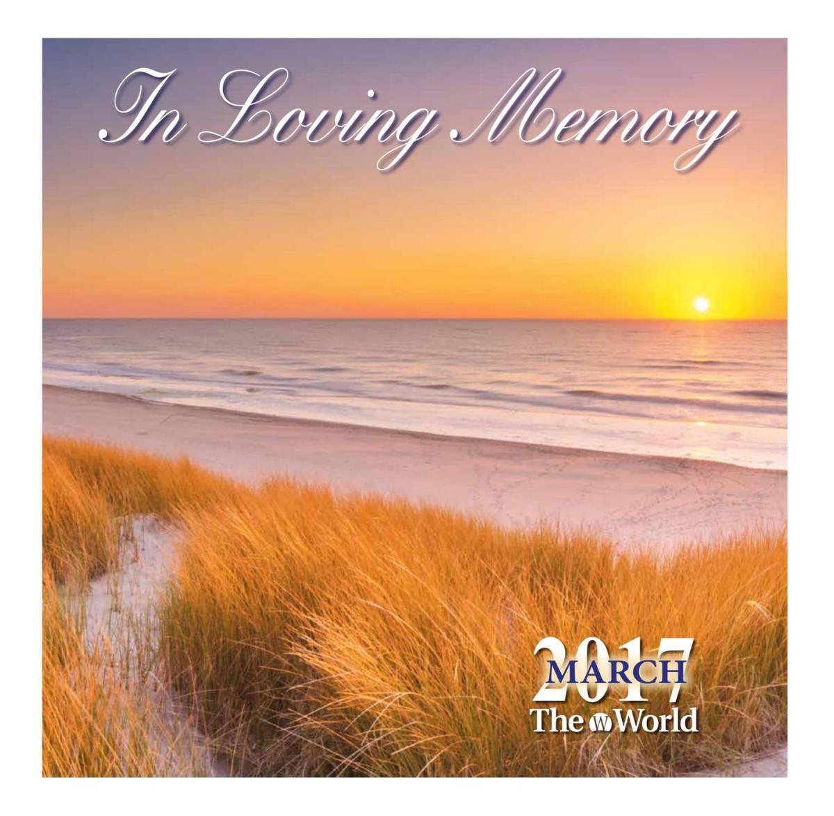 In Loving Memory March 2017