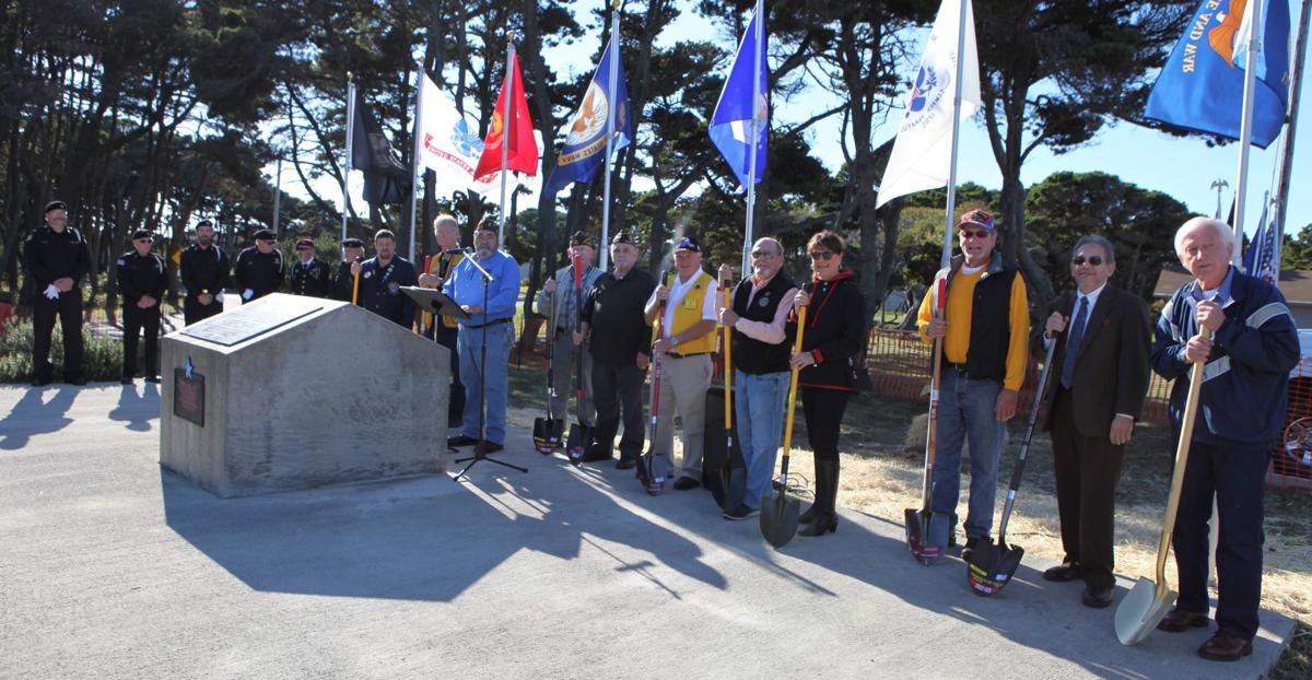 Ground-breaking for Bandon Veterans Memorial
