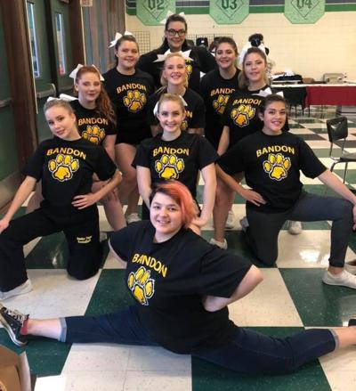 Bandon High School cheer team