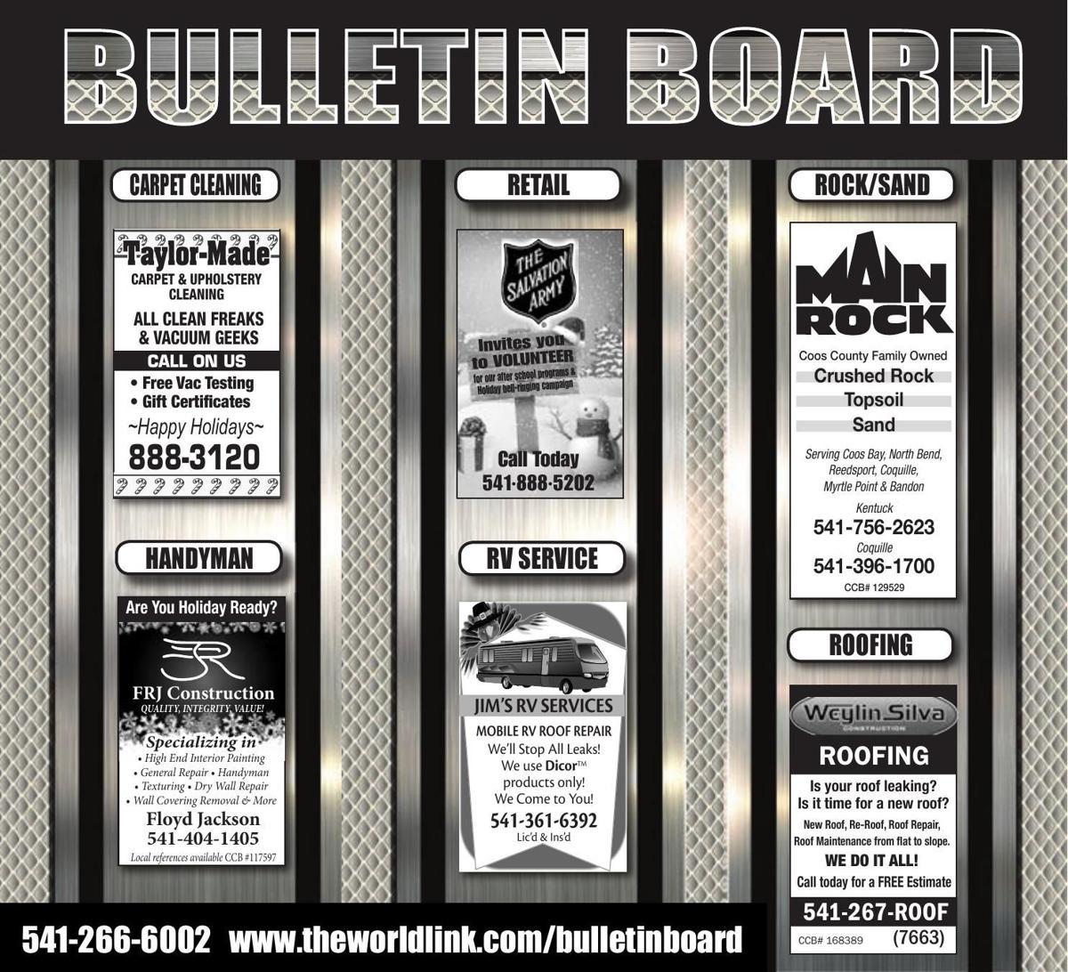 Bulletin Board Week Ending Nov. 18, 2017