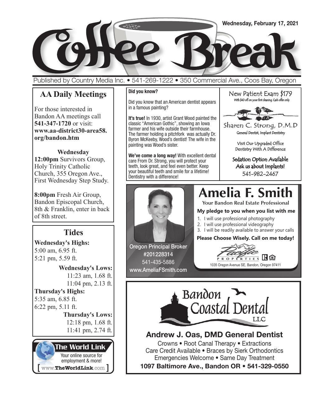 February 17, 2021 Coffee Break