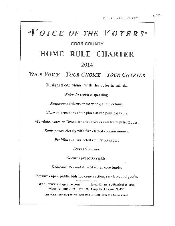 'Voice of the Voters' Home Rule Charter 2014