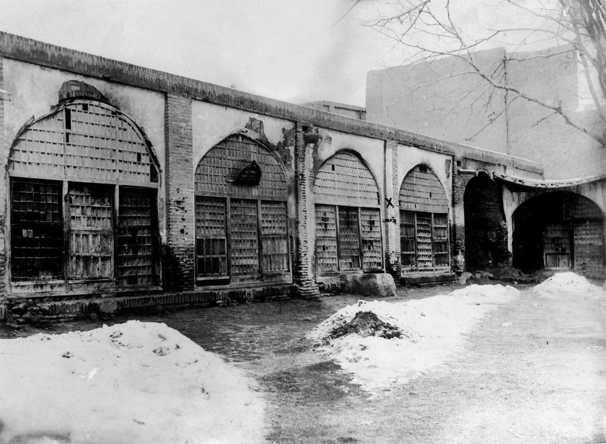 The wall in Tabriz where the Bab was executed.