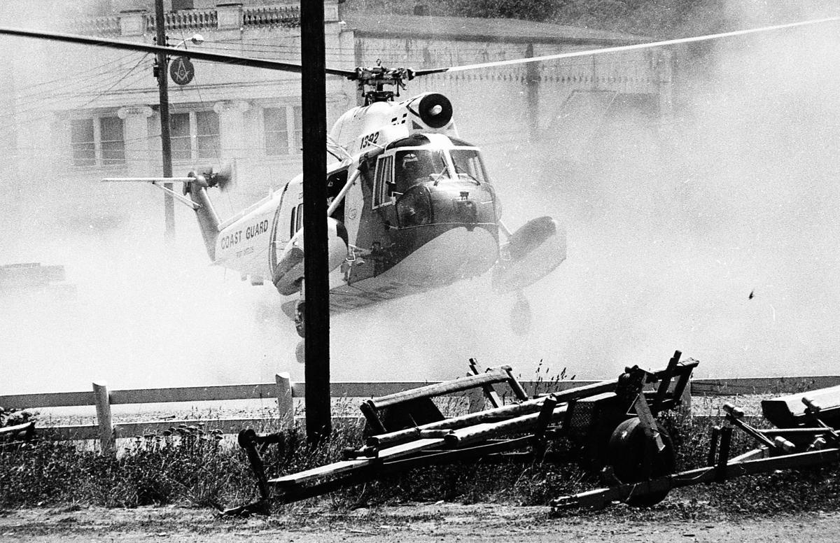 U.S. Coast Guard helicopter, September, 1973