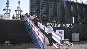 Advanced $20M barge joins Sause Bros. fleet