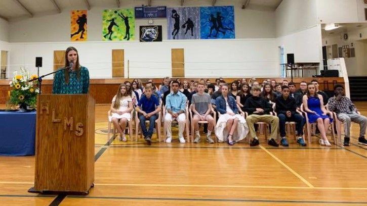 HLMS honors eighth graders   News   theworldlink com
