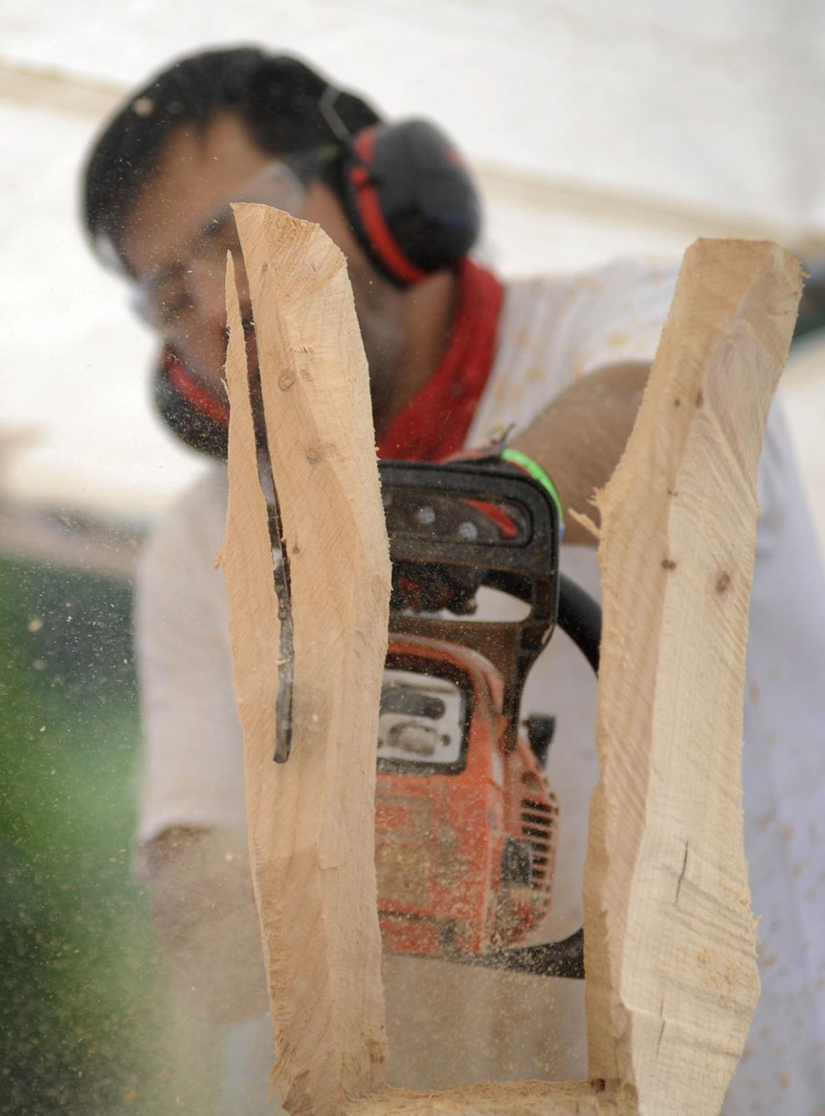 Carvers sculpt masterpieces in chainsaw championships
