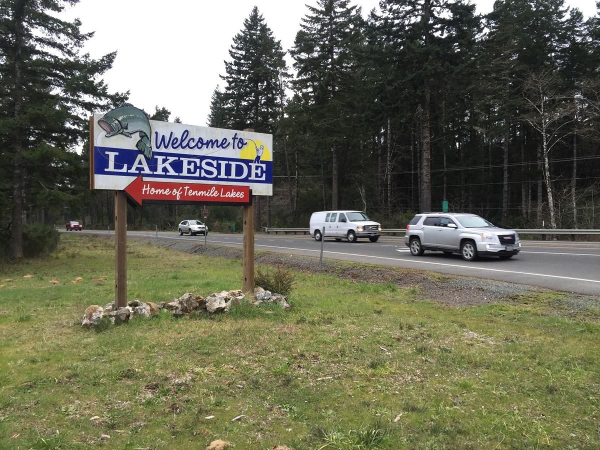 Lakeside sign