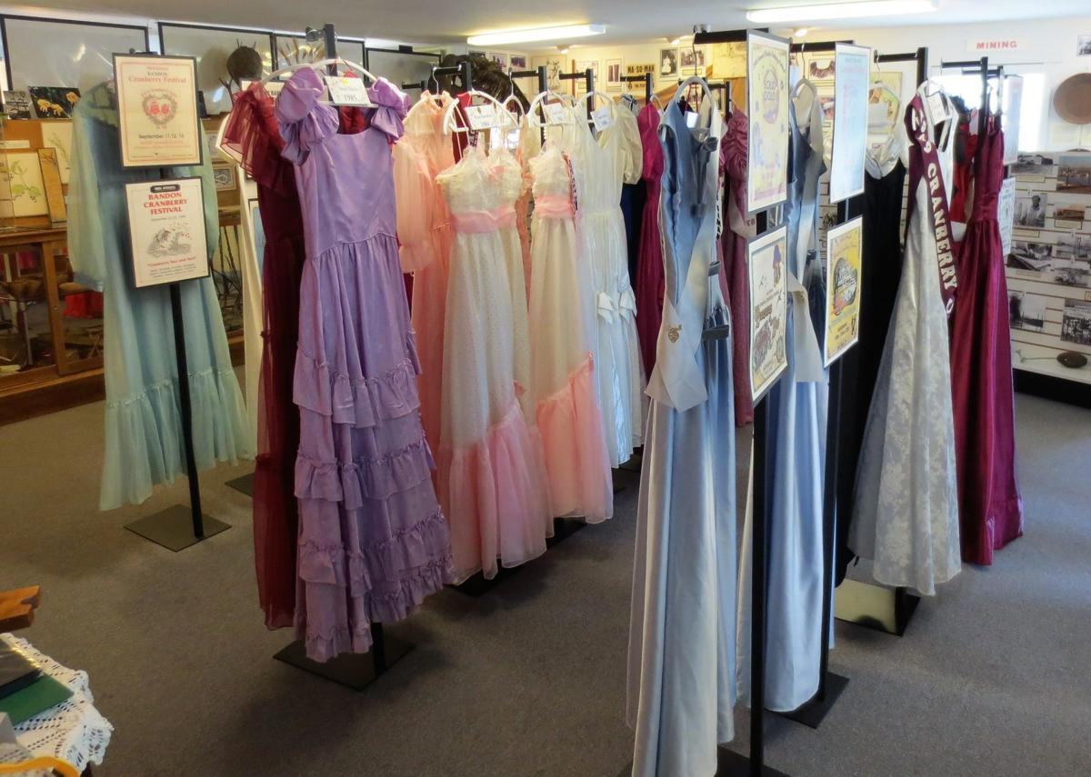 Cranberry Festival gown display at Museum
