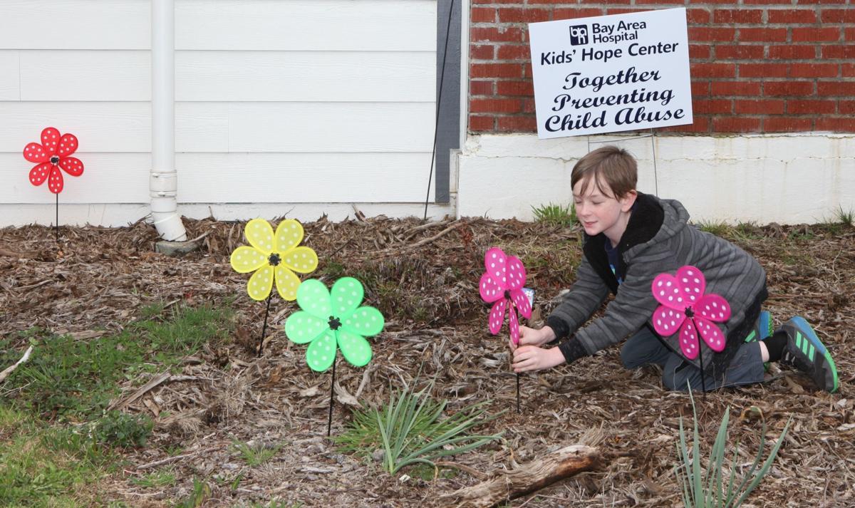 Pinwheels for child abuse awareness