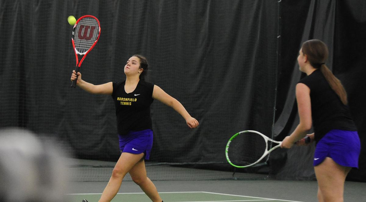 North Bend and Marshfield girls face off in tennis