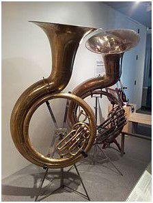 Ruth Barker's sousaphone