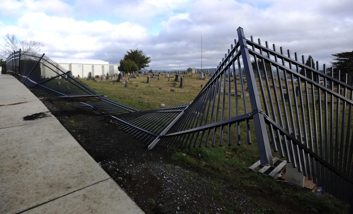 Reedsport bus driver tears down fence at Marshfield Pioneer Cemetery