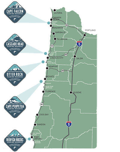 Map and rules for Oregon's marine reserves