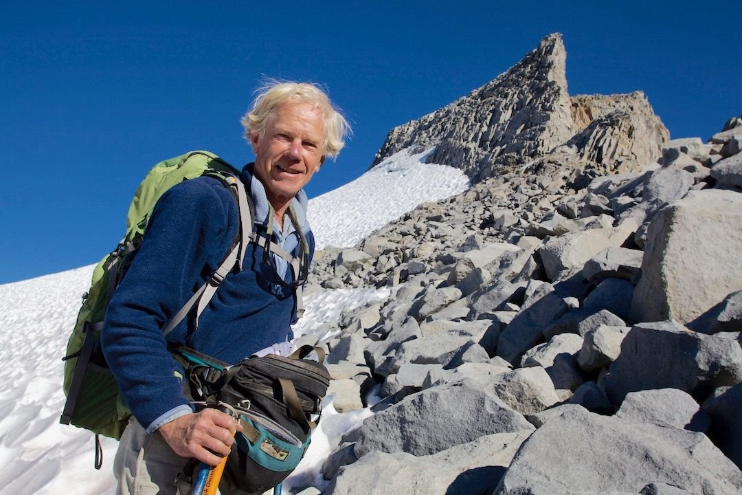 Tim Palmer at Mt. Lyell glaciers