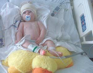 Baby's recovery progresses
