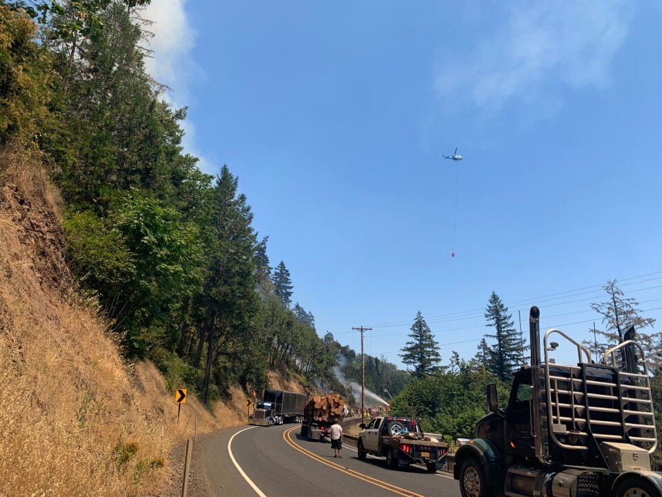 Fire on Highway 38