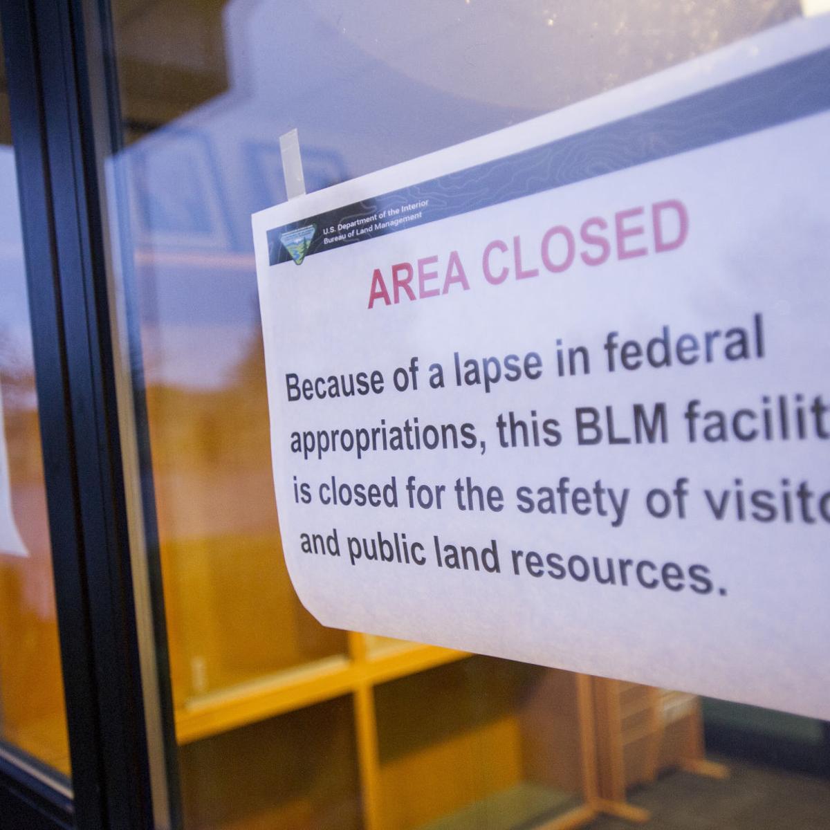 Government shutdown furloughs 111 local Bureau of Land
