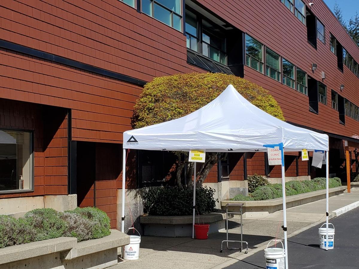 North Bend Medical Center tents