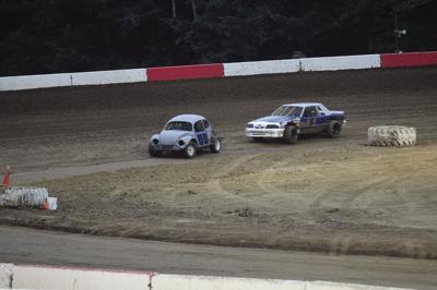 Tristen Davison and Jason Kellam driving
