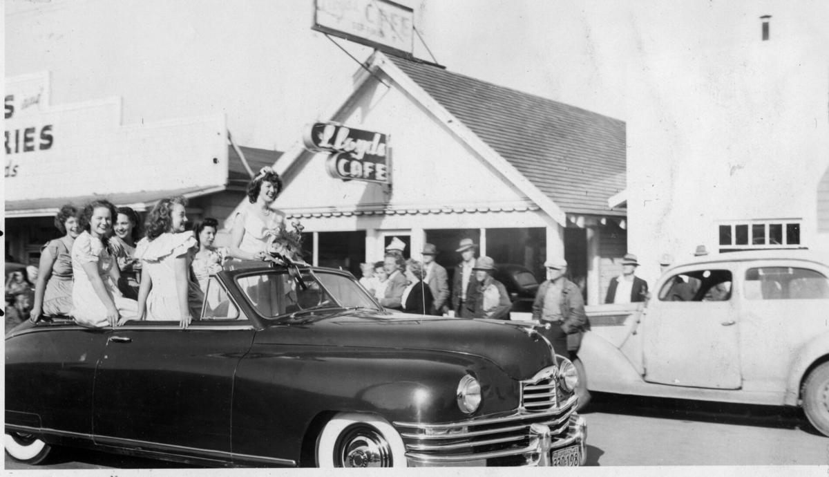 First Cranberry Parade, 1948 - Queen and Court