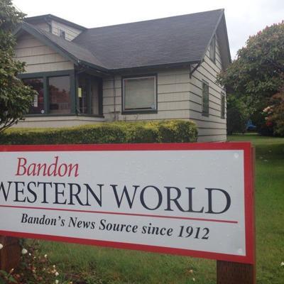 Bandon Western World sign