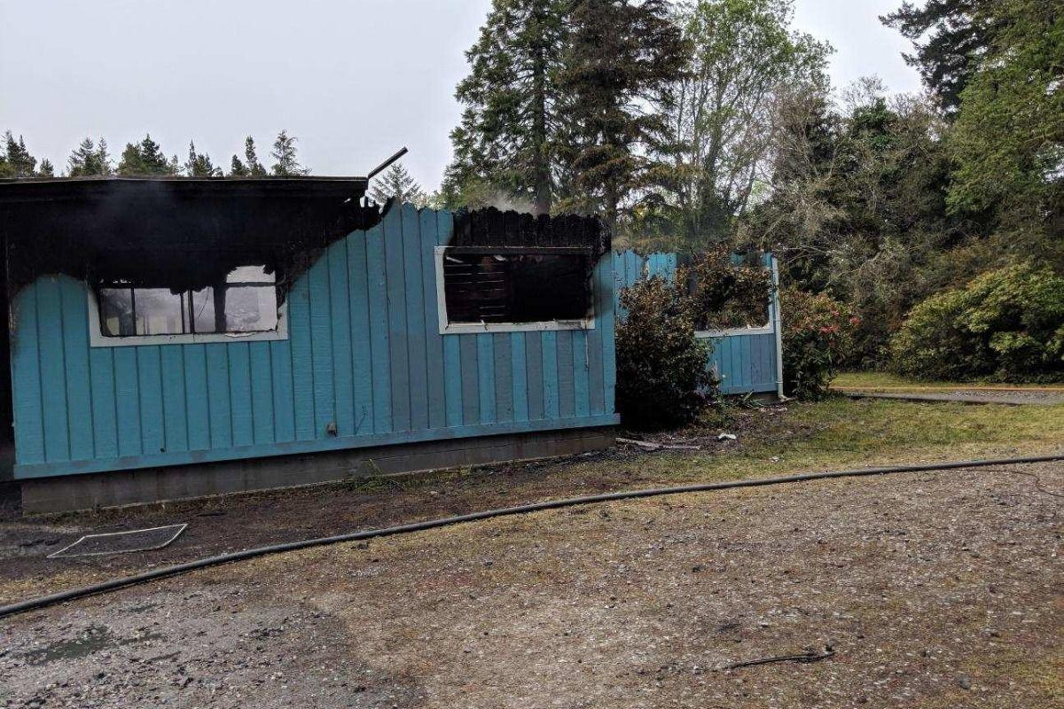 House fire on Prosper Road