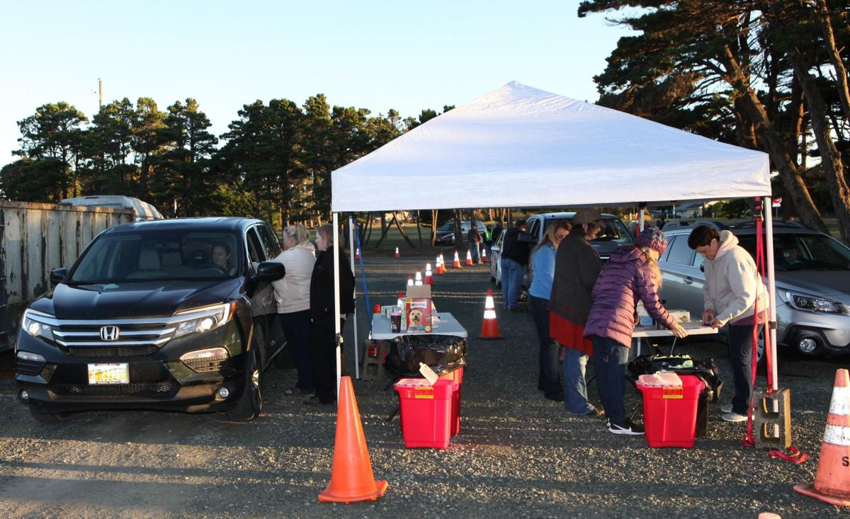 Southern Coos Hospital drive-through flu shot clinic