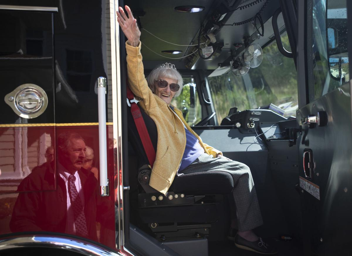 100th Birthday Firetruck Ride