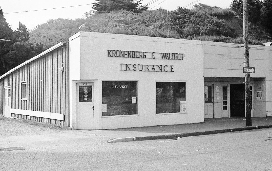 The Kronentberg & Waldrop Insurance building in the 1940s