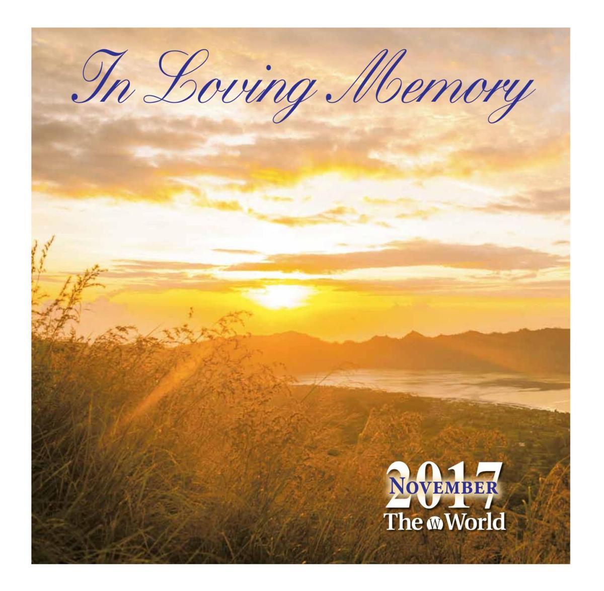 In Loving Memory November 2017
