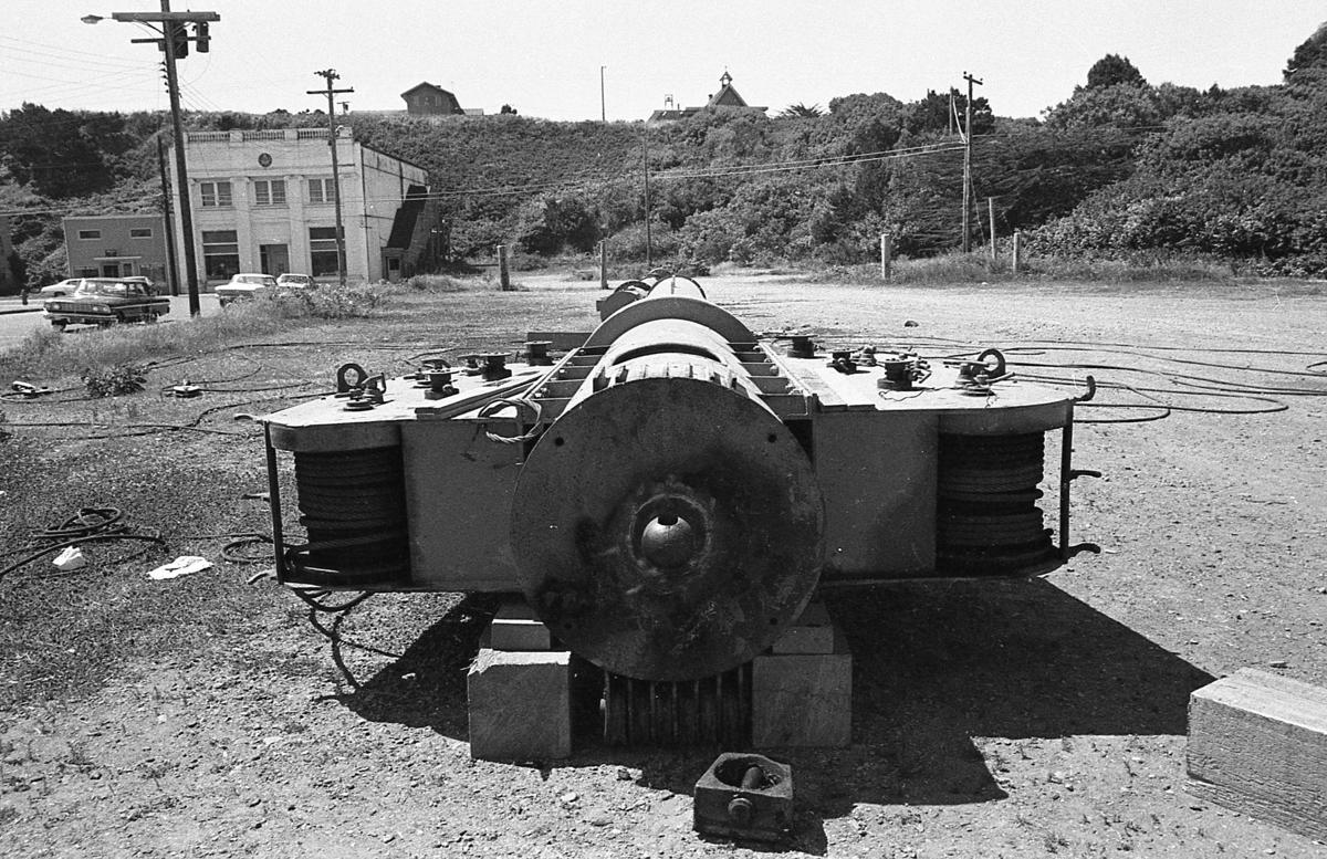 Vacant lot at Alabama and First Street, June 1972; city equipment