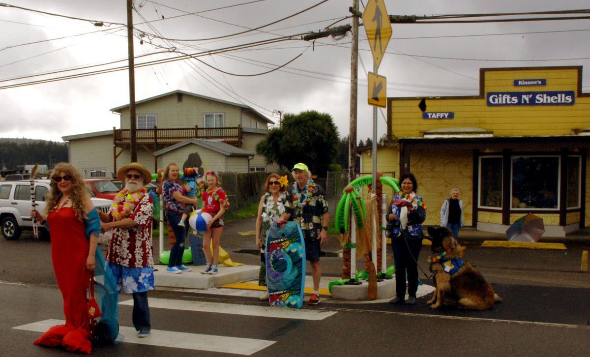 Parade practice Charleston Island Dedication
