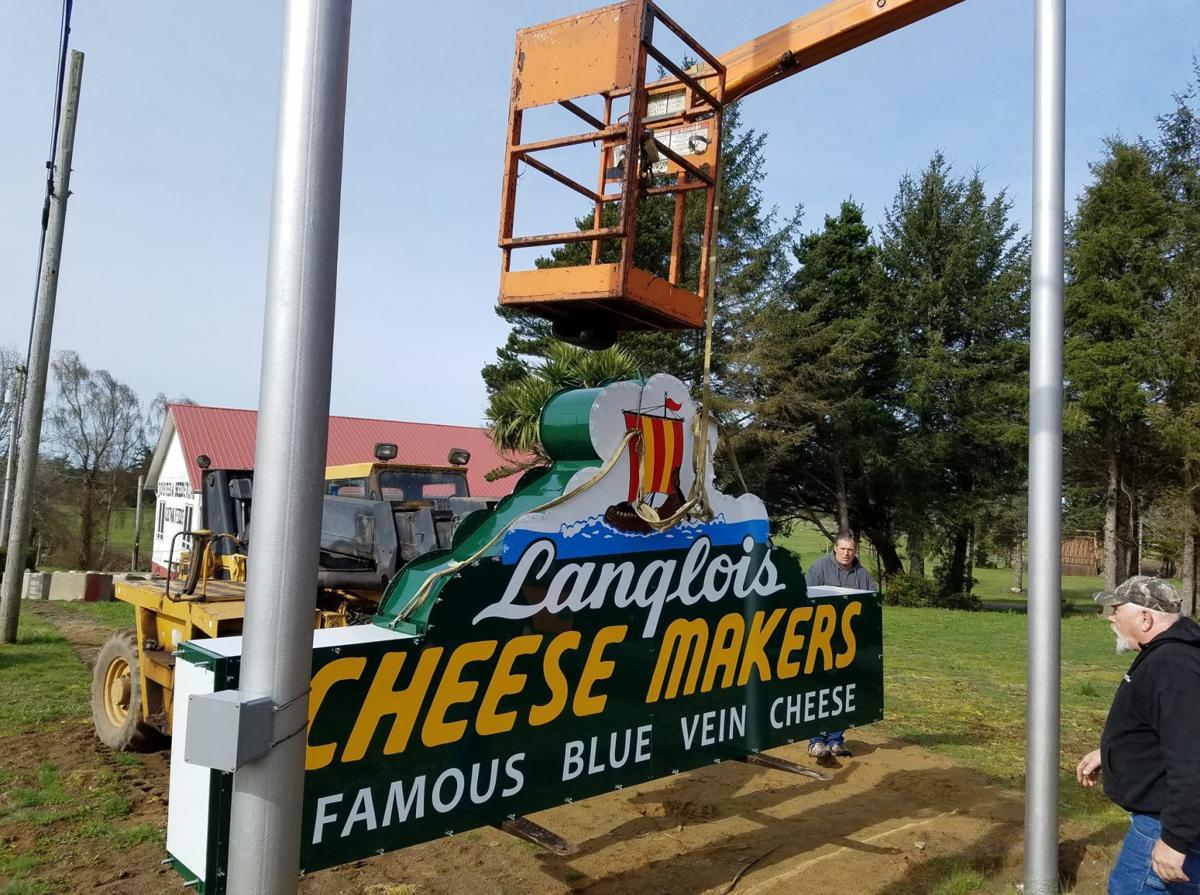 New sign for former Langlois Cheese Factory