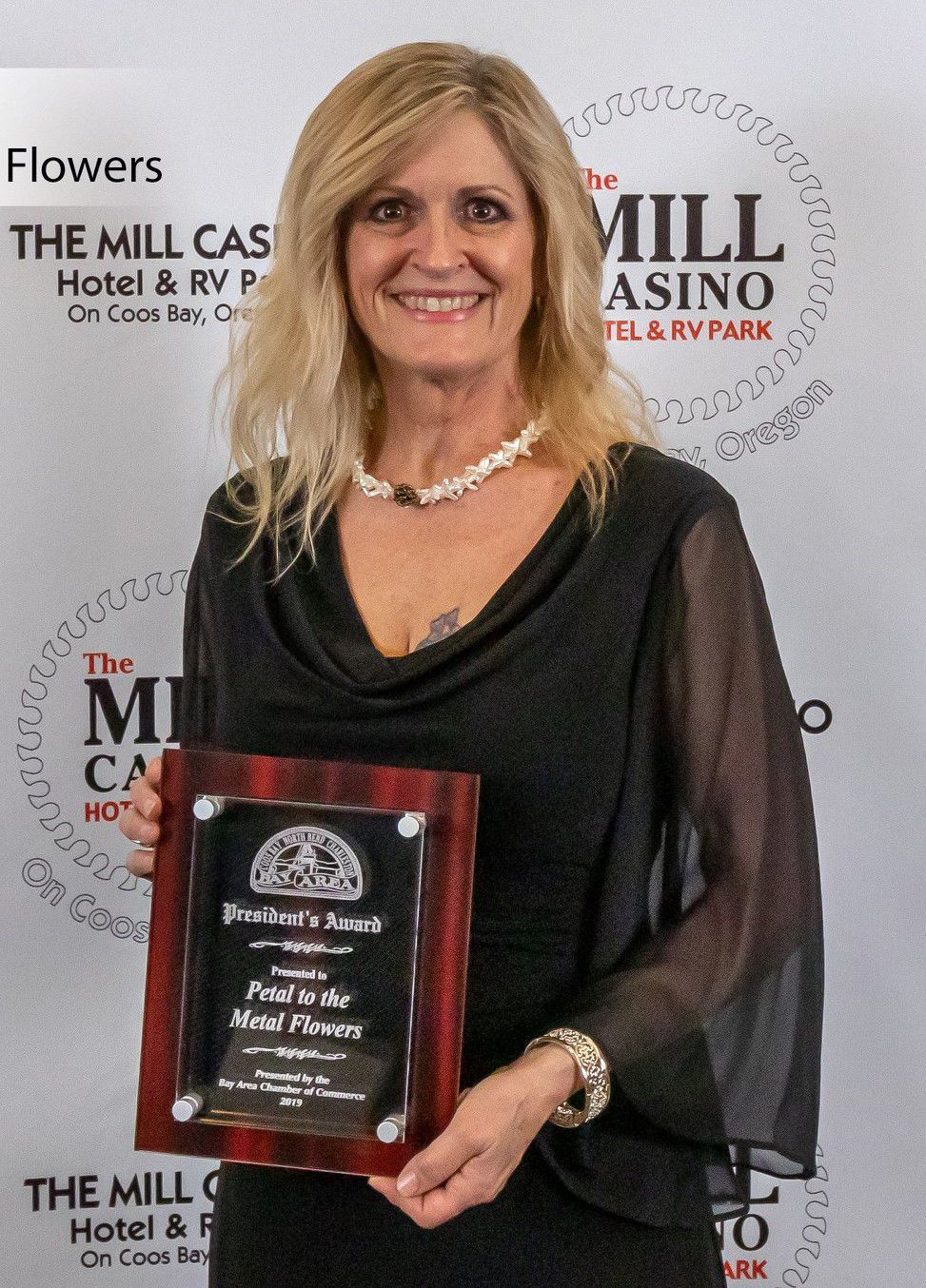 Bay Area Chamber of Commerce awards 2019 - President's Award - Petal to the Metal Flowers