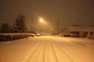 Snowstorm slams South Coast